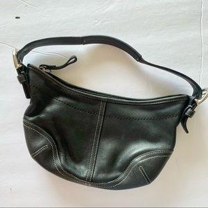 Coach Small Handbag Black Leather Shoulder Bag